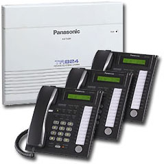 Panasonic Phone System with 3 Phones
